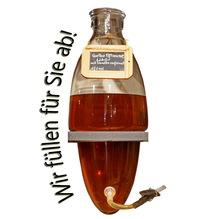Laux 'Gelbe Pflaume' Likör mit Vanille verfeinert 18% vol, in verschiedenen Flaschenformen und Mengen!