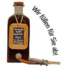 Laux 'Granatapfel Aperitif-Essig' Obstessig aromatisiert 5 % Säure, in verschiedenen Flaschenformen und Mengen!