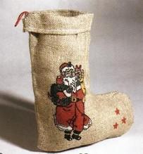 Nikolaus Jutestiefel Weihnachten Dekoration Zubehör  32 cm
