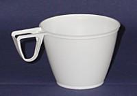 Kunststoff - Plastik Kaffeetasse mit Henkel 50 Stück