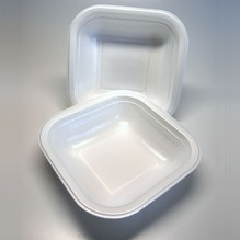 Iso-Suppenschale 500ml eckig 100 Stück Imbissbox Essenbox