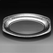 Alu-Platten oval V350G 10 Stück BBQ-Platte Essenplatte Grillplatte 333x233mm