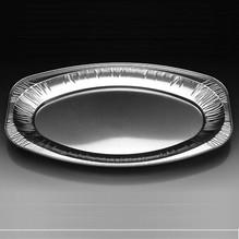 Alu-Platten oval V430G 10 Stück BBQ-Platte Essenplatte Grillplatte 445x295mm