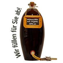 Laux 'Walnuss Likör' mit Cognac verfeinert 28 % vol, in verschiedenen Flaschenformen und Mengen!
