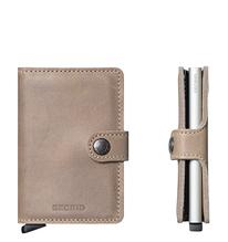 Secrid Credit Card Protector Mini Wallet taupe vintage Kreditkartenbox MV-Taupe