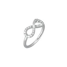 Mabina Gioielli - Infinity Ring Sterling-Silber/rhodiniert mit Zirkonia