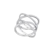 Mabina Gioielli -  Ring Sterling-Silber/rhodiniert mit Zirkonia