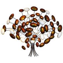 Wandschmuck Baum Metallbaum weiß braun 36650942