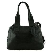 Saccoo Ledertasche Damen Hobo Bag pflanzlich gegerbtes Lederschwarz  87384-01