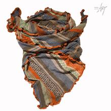 invero Dreieckstuch Grau-Blau-Orange -Mix