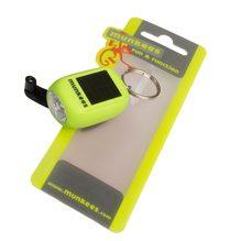 Mini Solar/Dynamo Taschenlampe als Schlüsselanhänger von Munkees