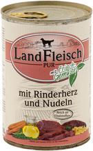 Landfleisch pur mit Rinderherz und Nudeln