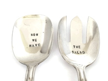 Salatbesteck silber - Now we have the salad