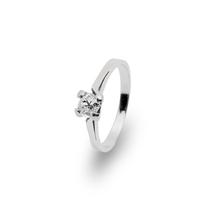 Verlobungsring und Antragsring mit  einem Altschliff-Diamant  in 585 Weißgold