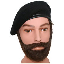 Kangol Barett Monty Beret Schurwolle Baskenmütze schwarz