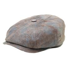 Stetson Hatteras Lederkappe Schirmmütze braun 6847102