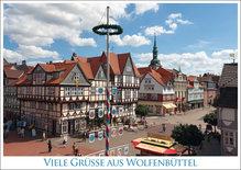 Postkarte WF Viele Grüße aus Wolfenbüttel