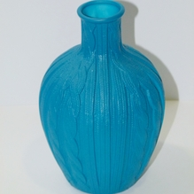 Vase in Strickoptik petrol