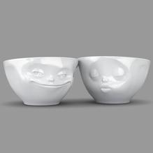 Schälchen 'küssend + grinsend' 200ml weiß, 58-Products 012201