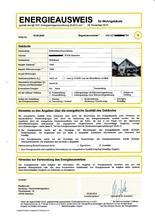 Energieausweis: Energiebedarfsausweis bis 2 Wohneinheiten