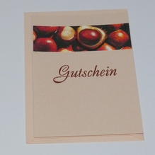 Geschenk Gutschein selbstgebastelt