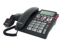 Tiptel Ergophone 1210 - Telefon mit Schnur mit Rufnummernanzeige und extra großen Tasten