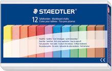 STAEDTLER Wandtafelkreide farbig eckig papierumwickelt, Länge 90mm VE = 1 Pack = 12 Stück
