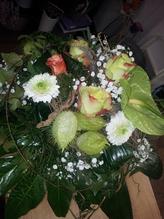 Blumenstrauß ' weiß/grün '