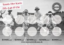 Tennis 10er Karte 219,- Euro
