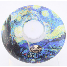 Gilde Teelichthalter Dreamlight Starry Night Van Gogh 13cm 70625-3