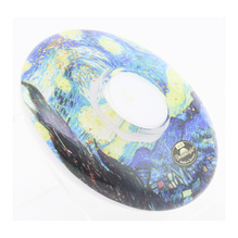 Gilde Teelichthalter Dreamlight Starry Night Van Gogh 15cm 70626-0
