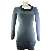 Simclan Damenpullover Longshirt Feinstrickpulli dunkel blau 2524-025-741