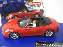 30772 Carrera Digital 132 Porsche 911 Carrera S Cabriolet rot