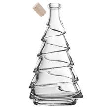 Glasflasche Tannenbaum 'Pino' mit Naturkorken, Volumen 200ml