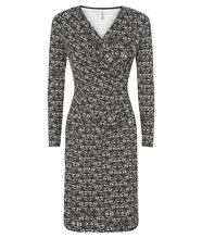 People Tree Stella Fitted Dress mit Wickeloptik in Black/White