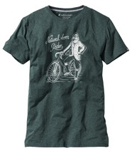 recolution Shirt Natural Rider green melange