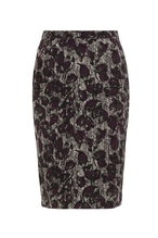 People Tree Ripley Pencil Skirt, Rock multi grau/lila