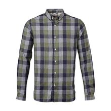Knowledge Cotton Apparel Checked Light Flanell riffle green, Hemd