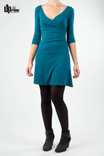 Up Rise Party Dress deep ocean mit Hanf