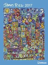 James Rizzi großer Wandkalender 2017 48 x 64 cm