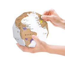 Scratch Globe, eine Rubbel-Weltkarte in 3D.