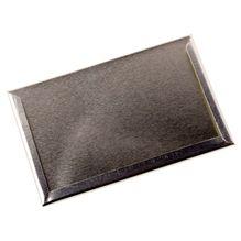 Etikettenhalter silber für Vorratsdosen - Teedosen - 99x65x3 mm