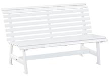 Bank 3er  Aluminium weiß  Länge 153cm