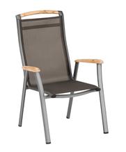 Memphis Dining-Chair anth./bronze  Alu/Batyline/Teak Stapelsessel