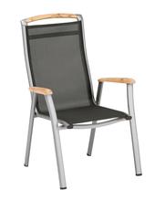 Memphis Dining-Chair champ./mocca  Alu/Batyline/Teak