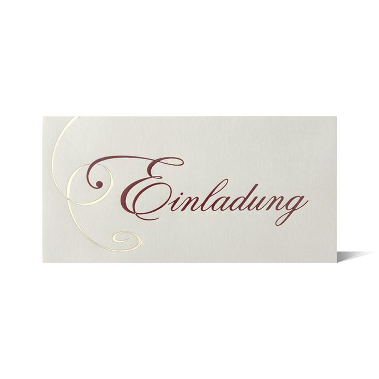 Einladungskarte 25 Stück