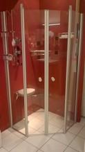 Hochwertige 5-Eck-Glas-Duschanlage