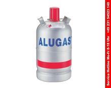 1 x 11kg Neue Alu Camping Propangasflasche  ungefüllt, geprüft bis Ende 2026