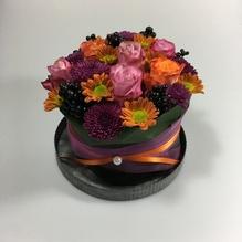 Blumen & Besonderes:Törtchen mittel inkl. Teller ø 24 cm
