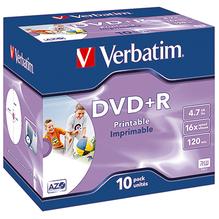 Verbatim DVD+R 43508 16x 4,7GB 120Min. Jewelcase 10 St./Pack